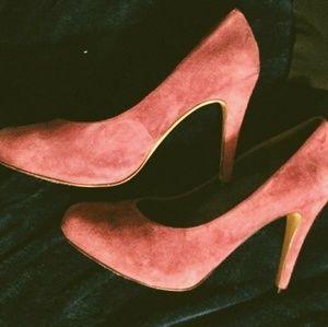 Purple Jesicca Simpson high heels